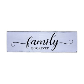 Family is Forever Handmade Farmhouse Wood Wall Art Sign Pine Wood