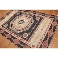 French Country Classic Formal Needlepoint Aubusson Area Rug - Multi