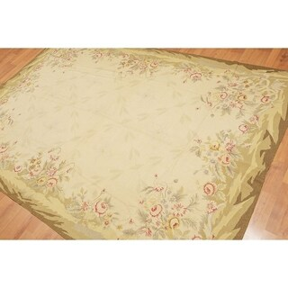 "Shabby Chic Country Cottage Needlepoint Aubusson Area Rug (5'9""x8'5"")"