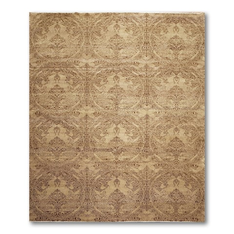 Michaelian & Kohlberg Transitional Oriental Hand Knotted Area Rug - Tan/Brown - 8' x 10' - 8' x 10'