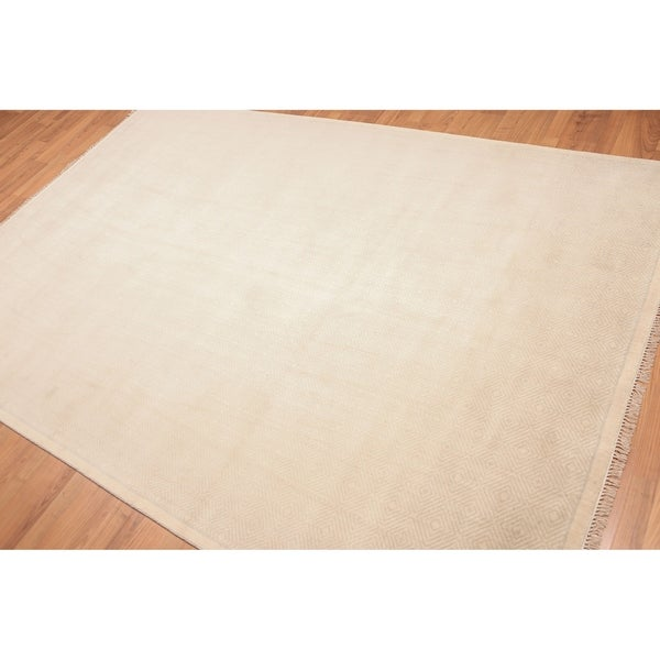 Patterned Oriental Hand Knotted Area Rug - Beige/Grey - 6' x 9' - 6' x 9'. Opens flyout.