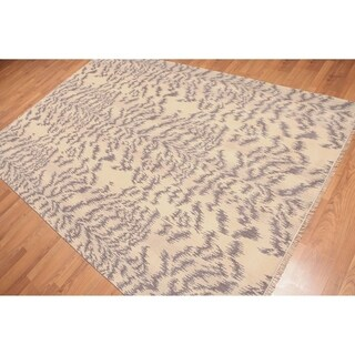 Animal Print Oriental Hand Knotted Area Rug (6'x9')