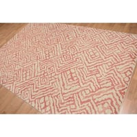 Boho Glam Oriental Hand Knotted Area Rug - Multi