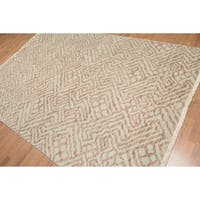 Contemporary Chic Oriental Hand Knotted Area Rug - Multi