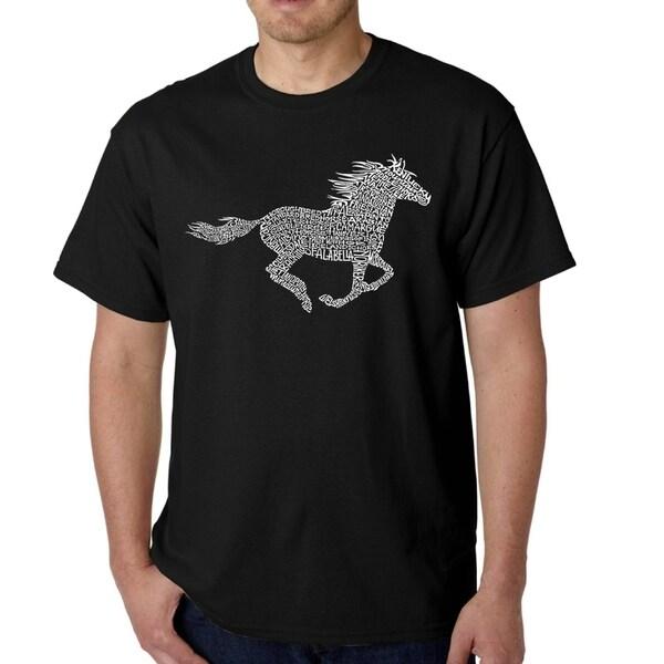 Mens Word Art T-shirt - Horse Breeds