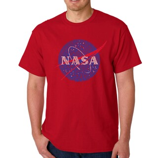 Los Angeles Pop Art Men's Word Art T-shirt - NASA's Most Notable Missions (More options available)