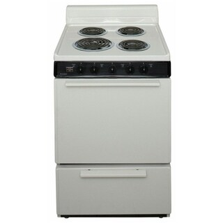 Premier 24 Inch Electric Freestanding Range in White