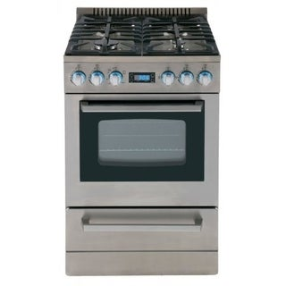 Avanti Elite 24 IN Freestanding Gas Range with Sealed Cooktop & Storage Drawer