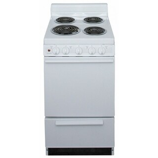 Premier 20 Inch Electric Freestanding Range in White