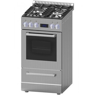 Avanti Elite 20 IN Freestanding Gas Range with Sealed Cooktop & Storage Drawer