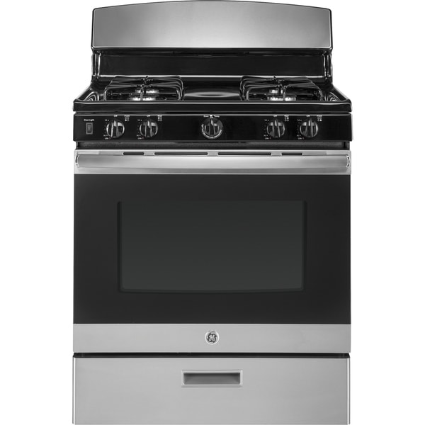 Shop Ge 30 In Free Standing Gas Convection Range In Black