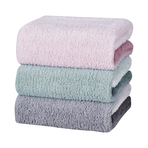 Five Queens Court Zalara Plush Fleece Ombre Throw