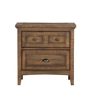 Bay Creek Traditional Toasted Nutmeg Two Drawer Nighstand
