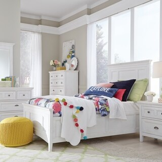 Heron Cove Traditional Chalk White Wood Panel Bed
