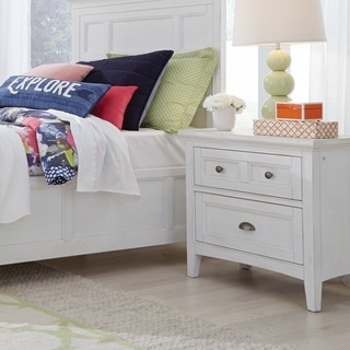 Heron Cove Traditional Chalk White Two Drawer Nighstand