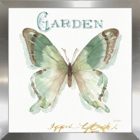 """Lisa Audit """"My Greenhouse Butterflies III"""" Framed Plexiglass Wall Art"""
