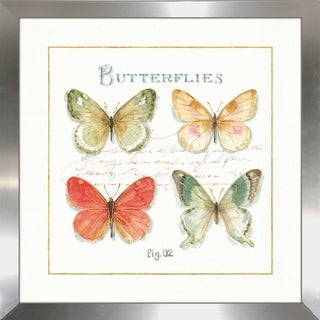 "Lisa Audit ""Rainbow Seeds Butterflies III"" Framed Plexiglass Wall Art"