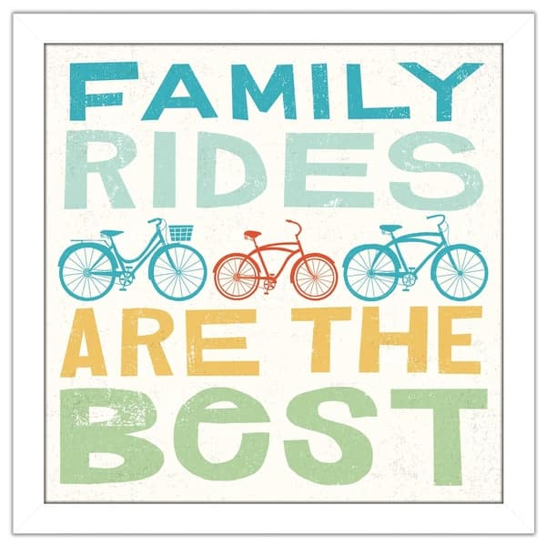 Shop Black Friday Deals On Michael Mullan Lets Cruise Family Rides I Framed Plexiglass Wall Art Overstock 20467921