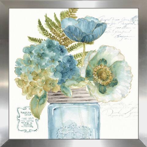 "Lisa Audit ""My Greenhouse Bouquet III"" Framed Plexiglass Wall Art"