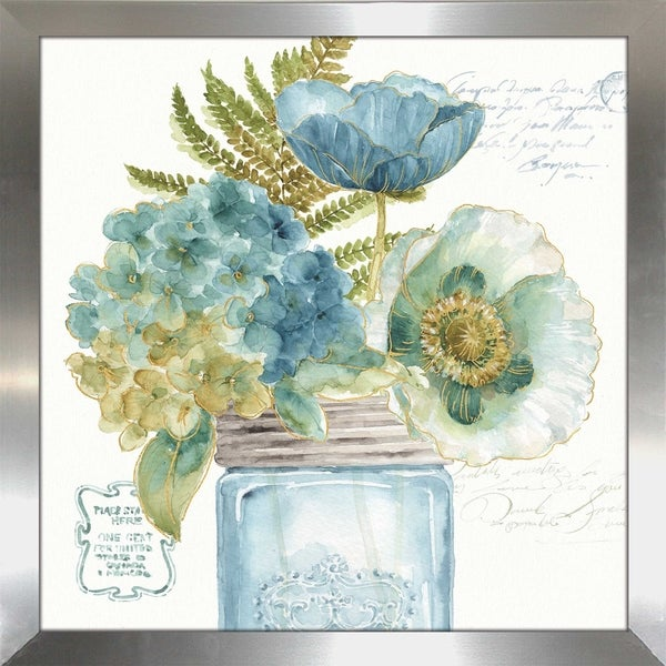 "Lisa Audit ""My Greenhouse Bouquet III"" Framed Plexiglass Wall Art. Opens flyout."