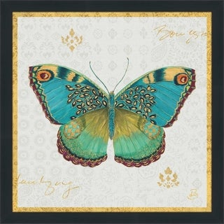 "Daphne Brissonnet ""Bohemian Wings Butterfly VA"" Framed Plexiglass Wall Art"