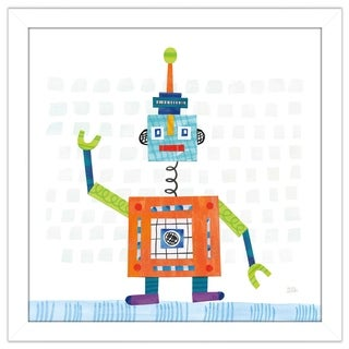 """Melissa Averinos """"Robot Party III on Squares"""" Framed Plexiglass Wall Art (4 options available)"""