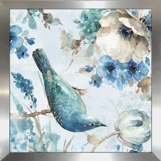 "Lisa Audit ""Indigold II"" Framed Plexiglass Wall Art"