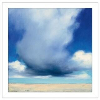 "Julia Purinton ""Beach Clouds I"" Framed Plexiglass Wall Art"