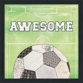 "Courtney Prahl ""On the Field IV Awesome"" Framed Plexiglass Wall Art"