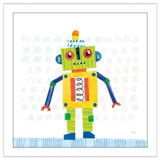 """Melissa Averinos """"Robot Party IV on Squares"""" Framed Plexiglass Wall Art (4 options available)"""