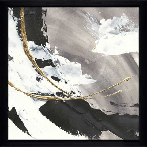 "Chris Paschke ""Gilded Arcs I"" Framed Plexiglass Wall Art"