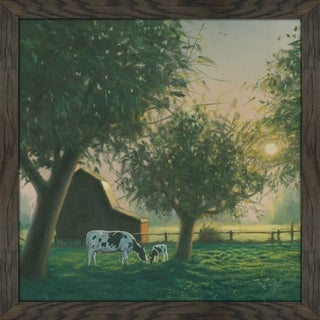 "James Wiens ""Farm Life IV"" Framed Plexiglass Wall Art"