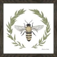 "Sara Zieve Miller ""Happy to Bee Home I"" Framed Plexiglass Wall Art"