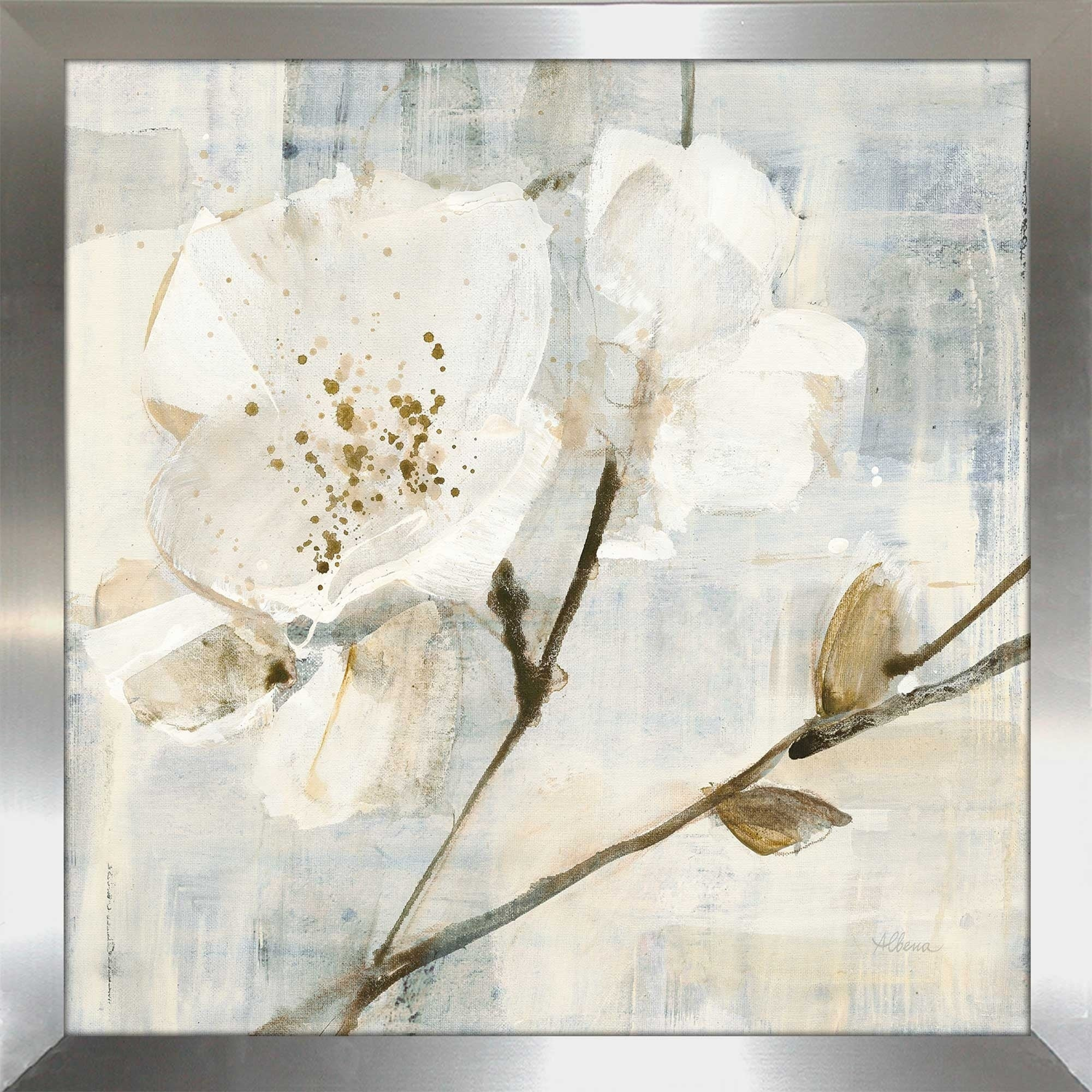 Albena Hristova Elegance I Greige Framed Plexiglass Wall Art Overstock 20468236