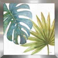 "Lisa Audit ""Tropical Blush VIII"" Framed Plexiglass Wall Art"