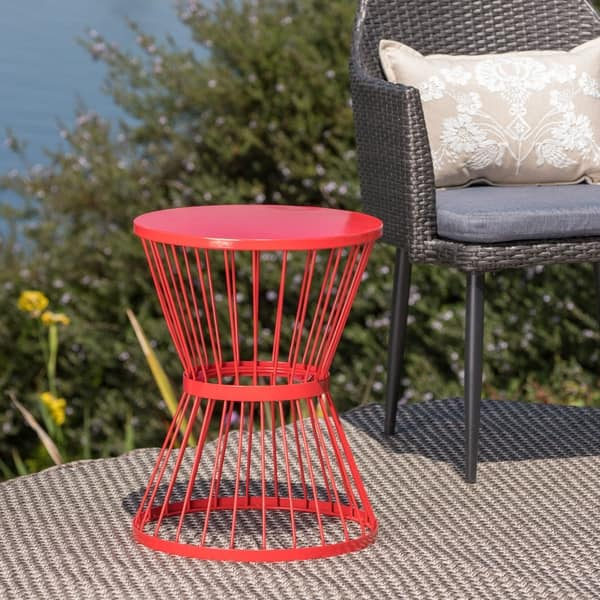 Wondrous Shop Lassen Outdoor 16 Inch Round Side Table By Christopher Caraccident5 Cool Chair Designs And Ideas Caraccident5Info