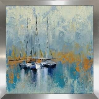"""Silvia Vassileva """"Boats in the Harbor III"""" Framed Plexiglass Wall Art"""