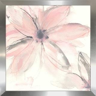 """Chris Paschke """"Blush Clematis II"""" Framed Plexiglass Wall Art"""