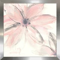 "Chris Paschke ""Blush Clematis II"" Framed Plexiglass Wall Art"
