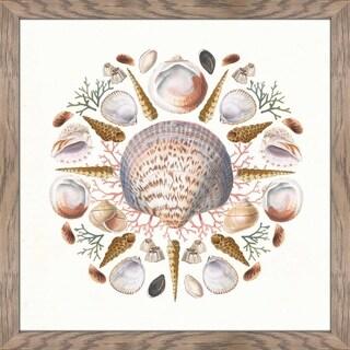 """""""Ocean Mandala I"""" Framed Plexiglass Wall Art"""