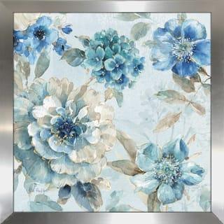 "Lisa Audit ""Indigold IX"" Framed Plexiglass Wall Art"