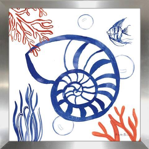 """Farida Zaman """"Coastal Jewels I"""" Framed Plexiglass Wall Art"""