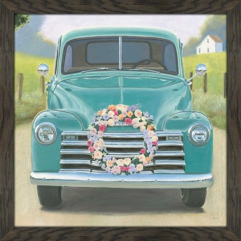 "James Wiens ""Beautiful Country I Square"" Framed Plexiglass Wall Art"