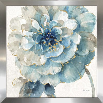 "Lisa Audit ""Indigold VII"" Framed Plexiglass Wall Art"