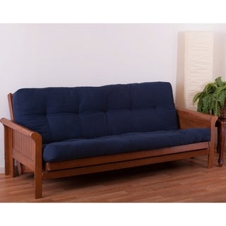 Shop Blazing Needles Vitality 8 Inch Queen Size Microsuede Futon Mattress Free Shipping Today