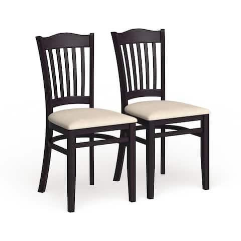 Copper Grove Glencairn Hybrid Upholstered Wood Dining Chairs (Set of 2)