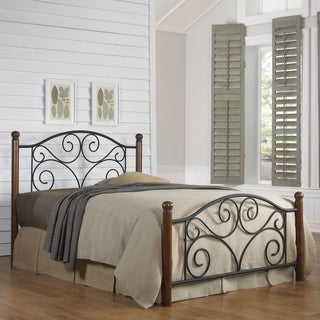Copper Grove Evelyn Falls Matte Black Metal Bed