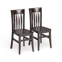 Gracewood Hollow Mantel Solid Wood Dining Chairs (Set of 2)
