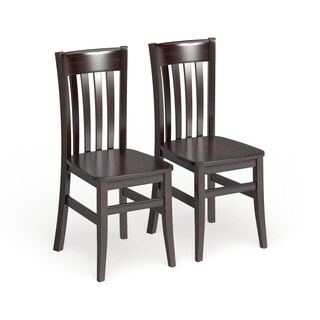 Gracewood Hollow Mantel Solid Wood Dining Chairs (Set of 2) (2 options available)