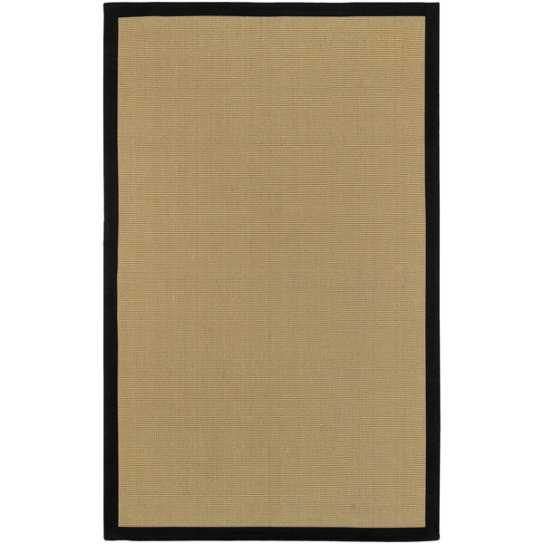 Havenside Home Clearwater Sisal and Black Cotton Border Area Rug - 6' x 9'